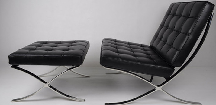 barcelona chair barcelona sessel vom ludwig mies van der rohe. Black Bedroom Furniture Sets. Home Design Ideas